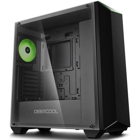Carcasa Deepcool Earlkase RGB V2, Middle Tower, fara sursa, ATX, negru 2