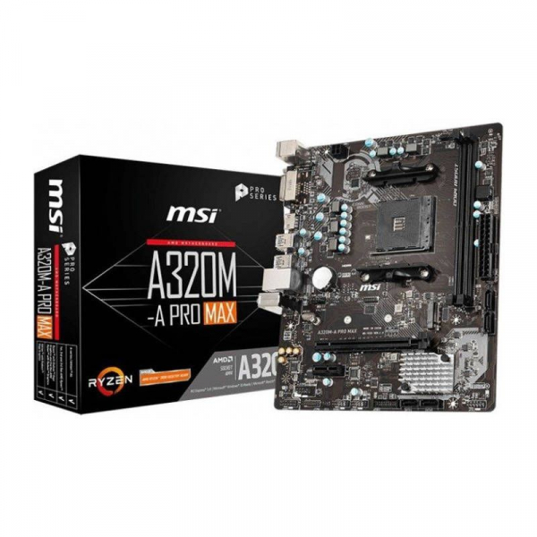 Placa de baza MSI A320M-A PRO MAX AMD AM4 mATX -Resigilat 0