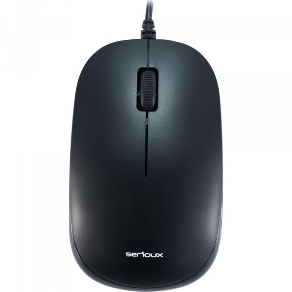 Mouse optic Serioux SRX9800MBK, USB, negru 1