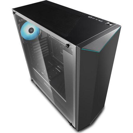 Carcasa Deepcool Earlkase RGB V2, Middle Tower, fara sursa, ATX, negru 5