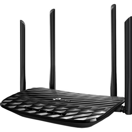 Router wireless TP-Link Archer C6, AC1200, Gigabit, Dual-Band, Negru 0
