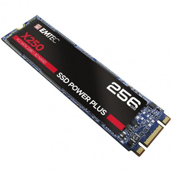 SSD Emtec X250, 256GB, SATA M2 2280, R/W speed 520MBs/500MBs 0