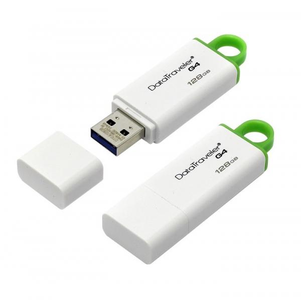 Memorie USB Kingston DataTraveler DTIG4, 128GB, USB3.0, Alb/Verde 2
