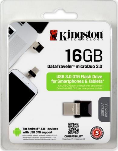 Memorie USB Kingston DataTraveler MicroDuo, 16GB, USB 3.0, OTG 2