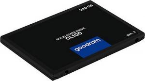 "SSD Goodram, CL100, 240GB, 2.5"", SATA III (6 GB/s), R/W speed: up to 520MB/400 MB/s0"