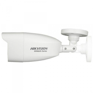 Camera de supraveghere Hikvision HiWatch Turbo HD Bullet, 2MP, 2.8mm Lens, 40m IR, Outdoor EXIR Bullet, IP66, carcasa metal, Alb1