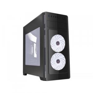 GEMBIRD CCC-FC-1000W Gembird ATX case Fornax 1000W - white led fans, USB 3.00