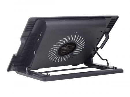 GEMBIRD Notebook cooling stand 17 with one fan black1