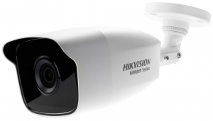 Camera de supraveghere Hikvision HiWatch Turbo HD Bullet, 2MP, 2.8mm Lens, 40m IR, Outdoor EXIR Bullet, IP66, carcasa metal, Alb0