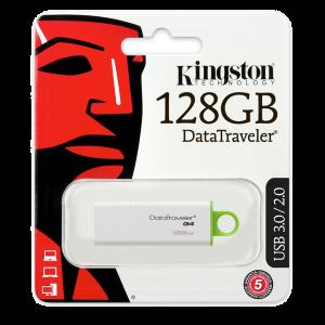 Memorie USB Kingston DataTraveler DTIG4, 128GB, USB3.0, Alb/Verde0