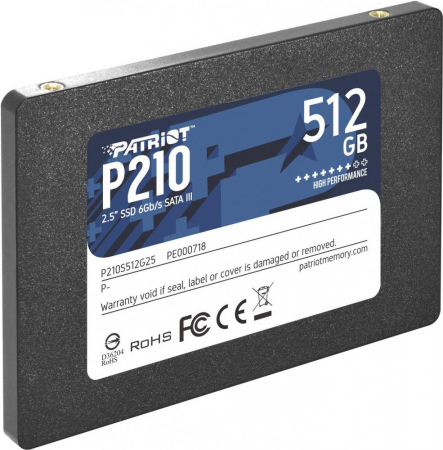"SSD Patriot Spark, 512GB, 2.5"", SATA3, rata transfer r/w: 520/430 mb/s0"