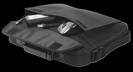 "Geanta Trust Atlanta Carry Bag 16"" laptop black2"