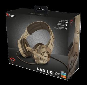 Casti cu microfon Trust GXT 310D Radius Gaming Headset - desert camo2