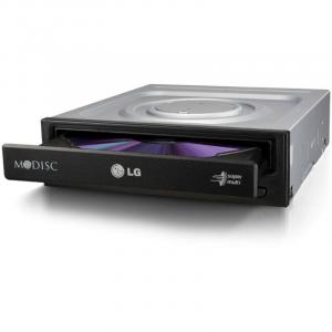 DVDRW LG 24X SATA BULK BLACK GH24NSD5, Max Speed: DVD 24x DVD+/-R Write 8x DVD+/-R DL Write 5x DVD-RAM Write, CD 48x CD-R Write, Host interface: SATA (Serial ATA), dimensions (WxHxD): 146 mm x 41.3 mm0