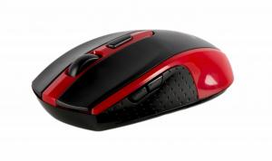 Mouse Serioux, Pastel 600, fara fir, USB, senzor optic, distanta de operare; 10m, precizie: 1000/1600DPI ajustabila, 6 butoane, 2x baterie AAA, sisteme de operare: Windows / Mac OS / Linux, rosu0