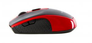 Mouse Serioux, Pastel 600, fara fir, USB, senzor optic, distanta de operare; 10m, precizie: 1000/1600DPI ajustabila, 6 butoane, 2x baterie AAA, sisteme de operare: Windows / Mac OS / Linux, rosu1