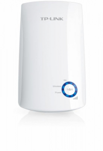 Wireless Range Extender TP-link, N300, Wall Plugged, 2.4GHz, 2 antene interne, FARA port LAN/WAN, Range extender button / Range extender mode, Atheros, 2T2R0