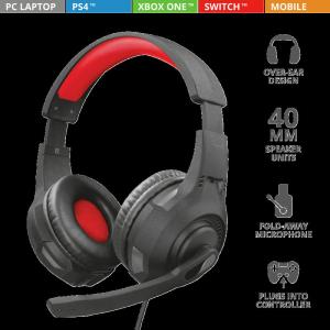 Casti cu microfon Trust GXT 307 Ravu Gaming Headset5