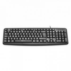 Tastatura Serioux 9400USB, cu fir, US layout, neagra, 104 taste, USB2