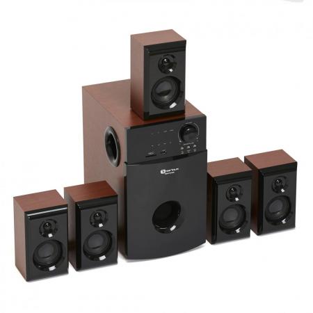 Boxe Serioux 5.1 SoundBoost HT5100C, 140W RMS, culoare lemn de cires [0]