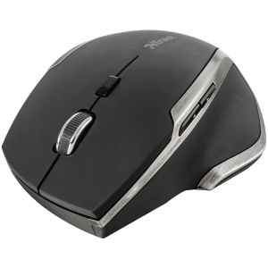 Mouse Trust Evo Advanced, Wireless, Negru1