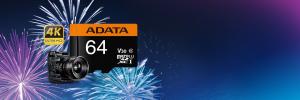 Card de memorie ADATA PremierPRO 64GB V30G, 95R/90W, micro UHS-I U3 CL10 +Adaptor1