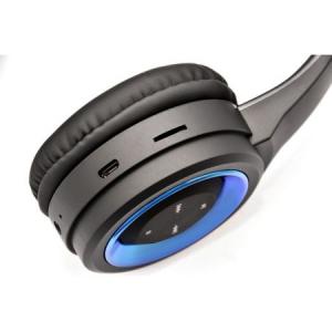 Set casti microfon Bluetooth 4.2, SK-841BX, pliere, Vakoss, negru0