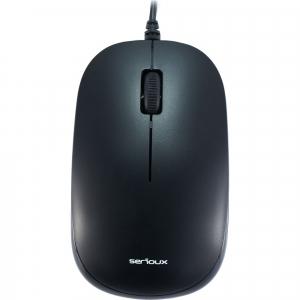 Mouse optic Serioux SRX9800MBK, USB, negru1