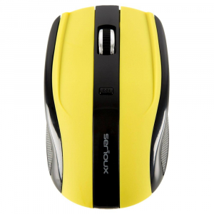 Mouse Wireless Serioux Rainbow 400, USB, Verde1