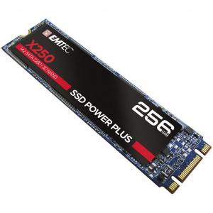 SSD Emtec X250, 256GB, SATA M2 2280, R/W speed 520MBs/500MBs0