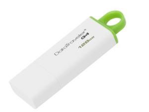 Memorie USB Kingston DataTraveler DTIG4, 128GB, USB3.0, Alb/Verde1