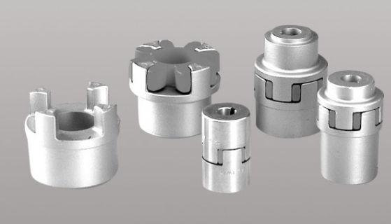 Cuplaj elastic cu gheare aluminiu 19/24 mm motor - pompa 0