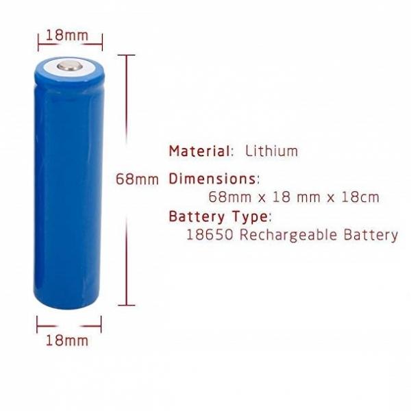Acumulator Li-Ion 18650 Samsung 2200mAh 4/10A descarcare 0