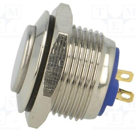 Buton fara retinere rotund SPST-NO; 2A/36VDC; IP65 metal [1]