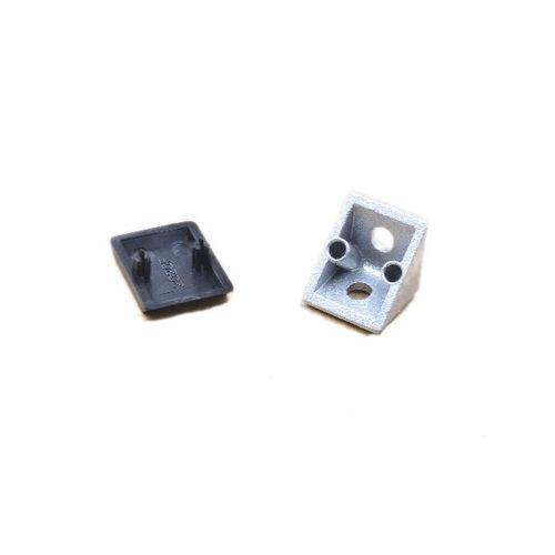 Coltar cu capac 20x20mm Aluminiu [0]