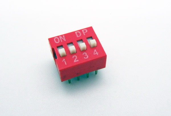 Comutator DIP Roșu (4p) [0]