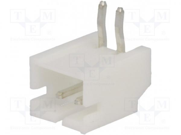 Conector 2 pin 90 grade Jst molex 2mm pas 0