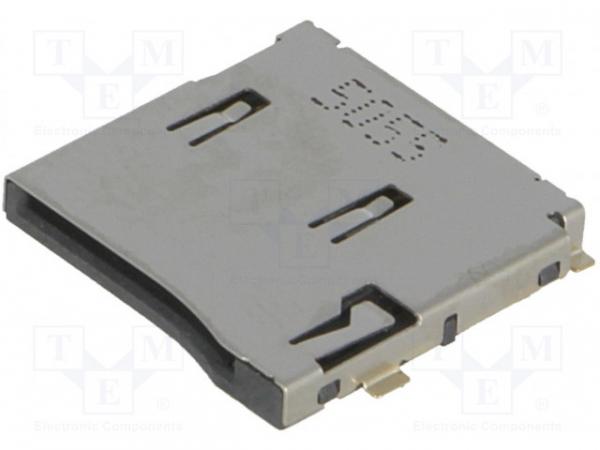 Conector pentru carduri SD Micro push-push SMT aurit [0]