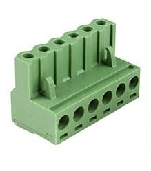 Conector 6 pini mama verde 0