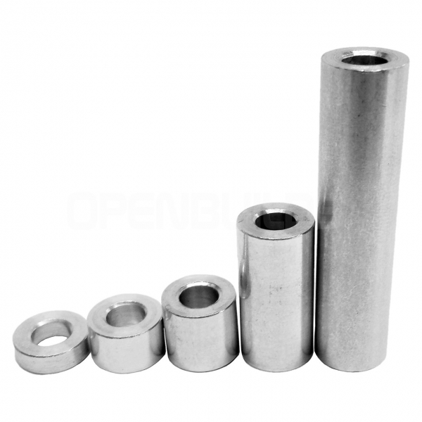 Distanțier cilindric nichel 2.6x5x6 mm [0]