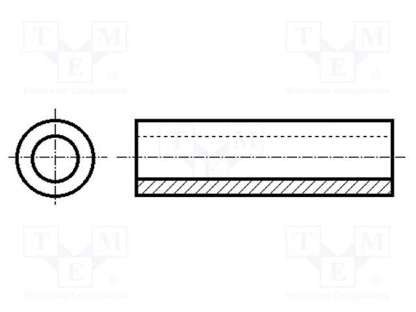Distantier Cilindric POM 6.3mmx10 0