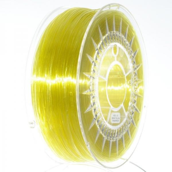 Filament PETG 1.75 Galben Deschis Translucid / Bright Yellow Transparent  Devil Design 0