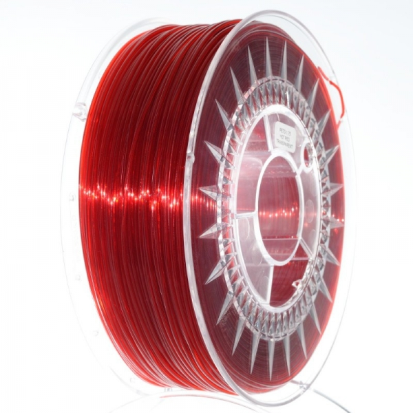 Filament PETG 1.75 Rosu Rubiniu Translucid / Ruby Red Transparent 0