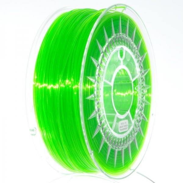 Filament PETG 1.75 Verde Deschis Translucid / Bright Green Translucid 0