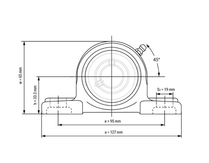 Lagar fonta pentru rulment Ucp 204 KBS/CRAFT/MBY/SRBF [1]
