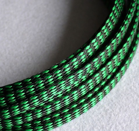 Mesh 8 mm PET Cablu Verde Negru 0