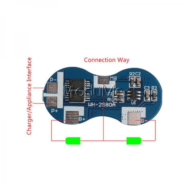 Modul echilibrare si protectie la incarcare 2S baterii Li-Ion 5A 1