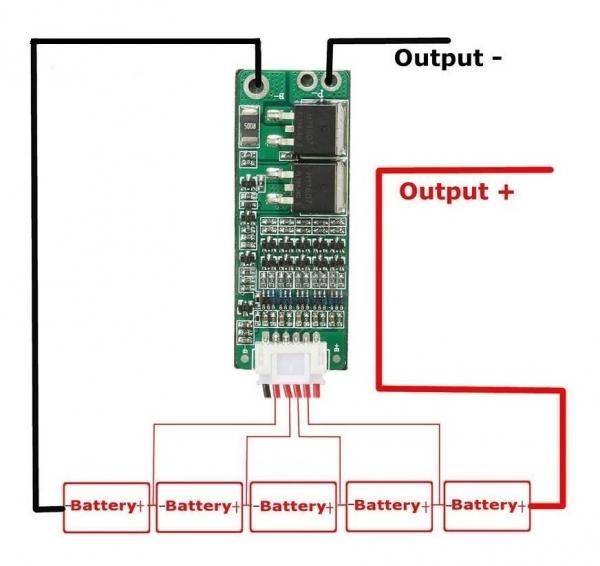 Modul echilibrare si protectie la incarcare 5S baterii Li-Ion 15A 0