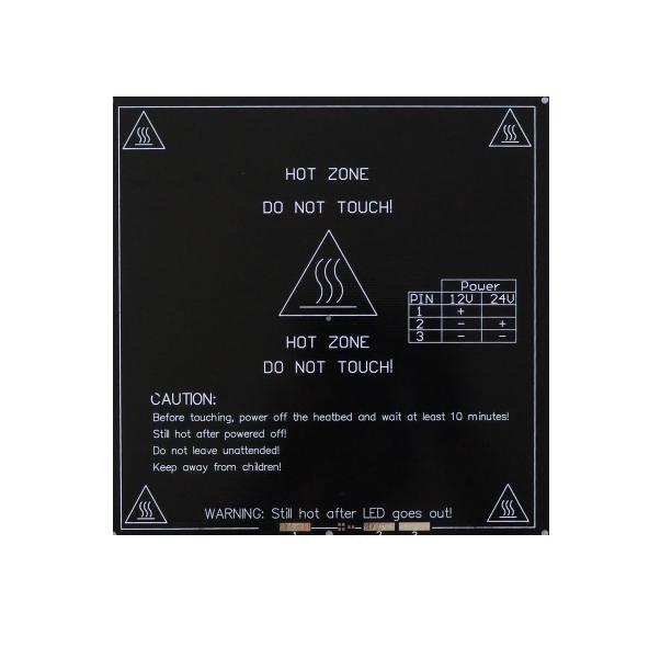 Pat incalzit 200x200mm Aluminiu MK3 12/24V 0