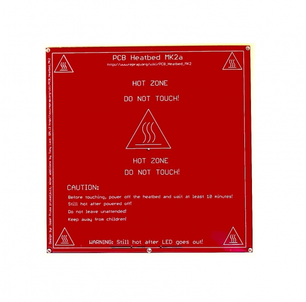 Pat incalzit 200x200mm PCB MK2 12/24V 0